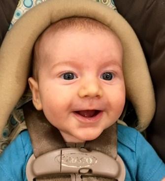 My happy little blogging buddy