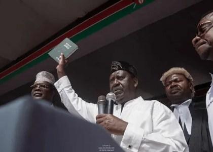 Raila Oath