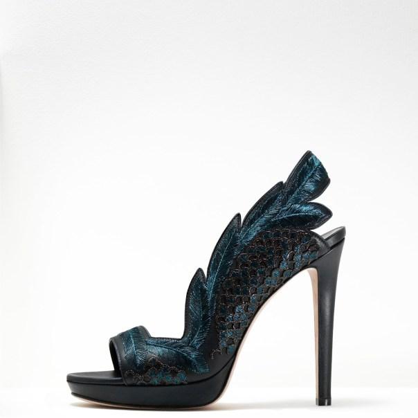 Gaetano Perrone, Iridescent Blue Leaf Sandal