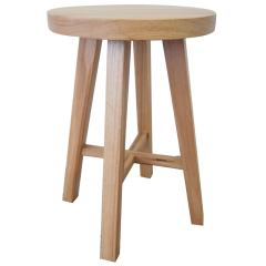 low rise timber stool