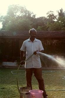 Babu. The maintenance man of The Pepper House.