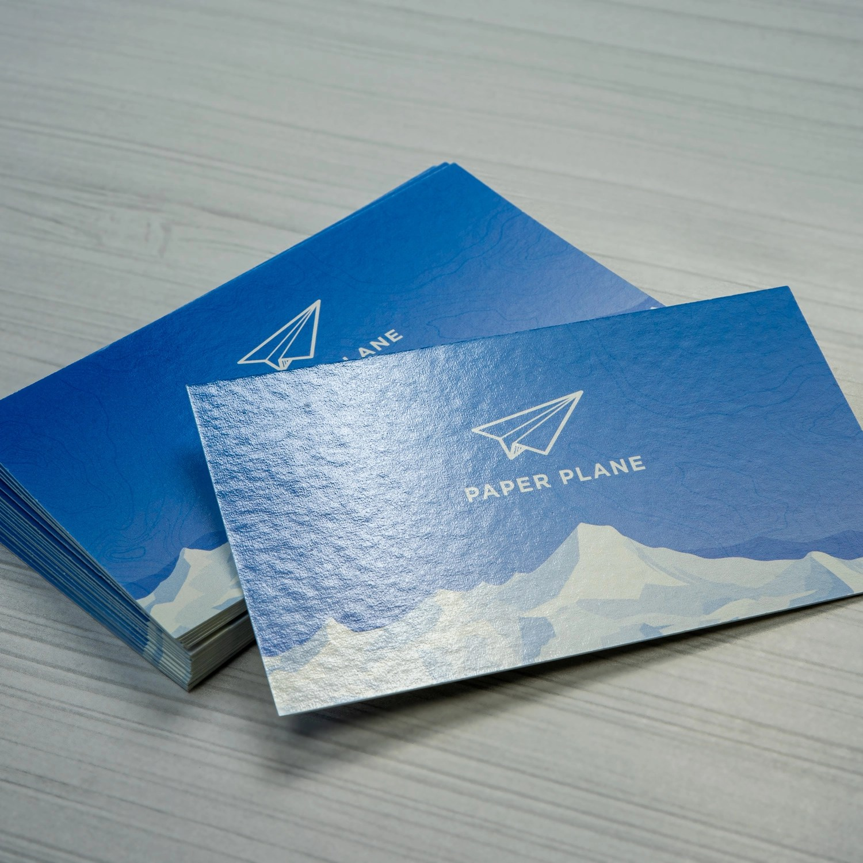 full gloss uv business cards