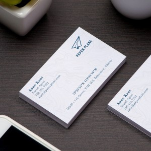 silk laminate business cards