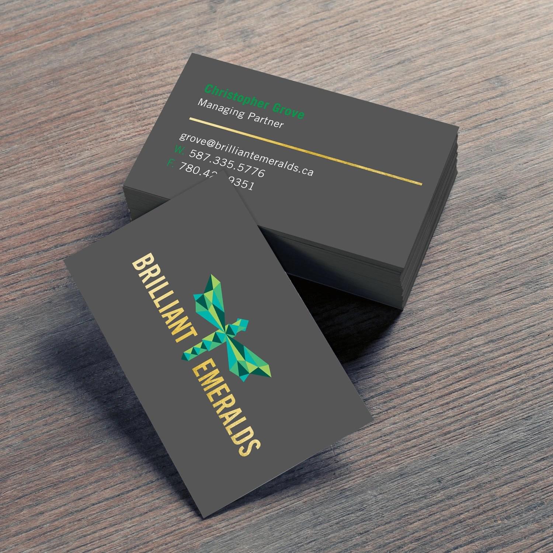silk laminate foil business cards