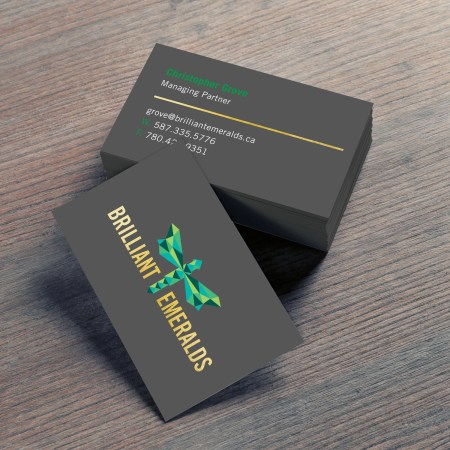 Silk Laminate Foil Business Cards