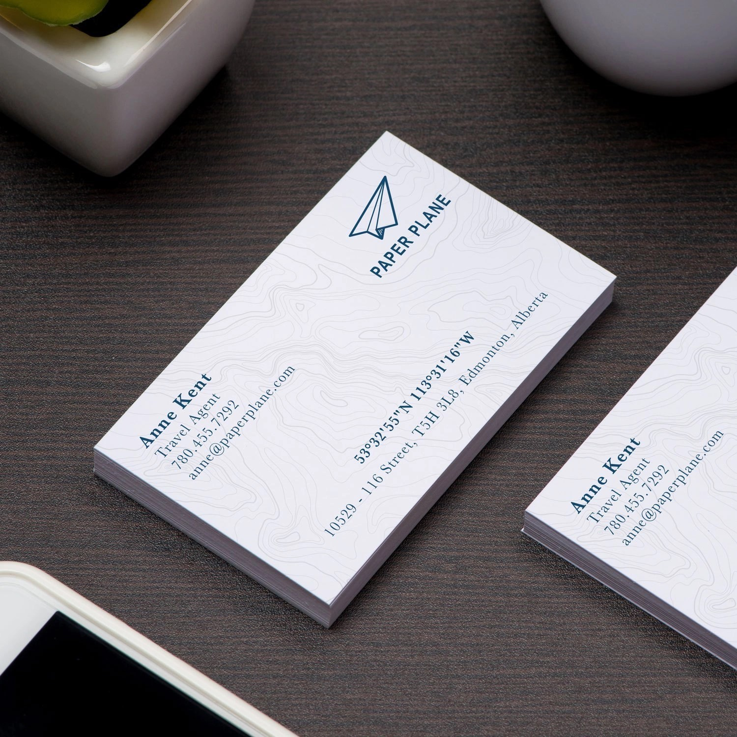 Silk Laminate Business Cards printed in Saskatoon