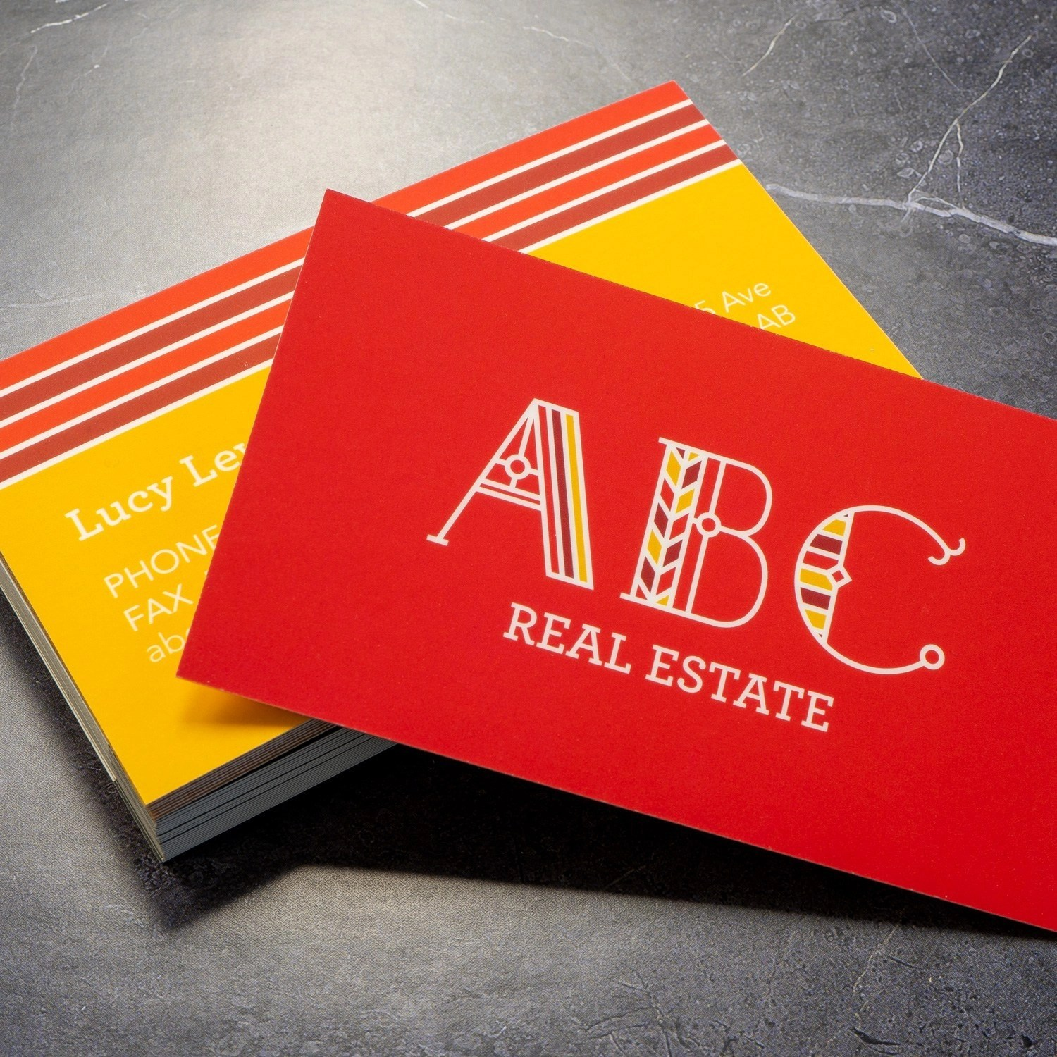 Soft Touch Business Cards printed in Kelowna