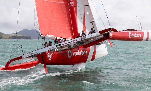 Simon Hull - Team Vodafone Sailing. Photo from TVS Facebook Page