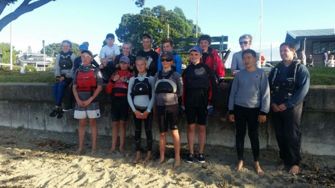 Royal Akarana Yacht Club 2016 Feva Team