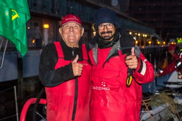 Jim Delegate and navigator Francesco Mongelli of Giacomo VO70 second line honours in the 2016 Rolex Sydney to Hobart yacht race with a time of 1 day 15hrs 27min 4sec 28/12/2016 ph. Andrea Francolini