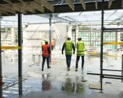 First floor, walking south towards the gym area
