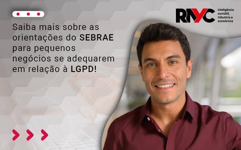 Saiba Mais Sobre As Orientações Do Sebrae Para Pequenos Negócios Se Adequarem Em Relação à Lgpd (1) - Contabilidade em Goiânia - GO | Rayc Contabilidade