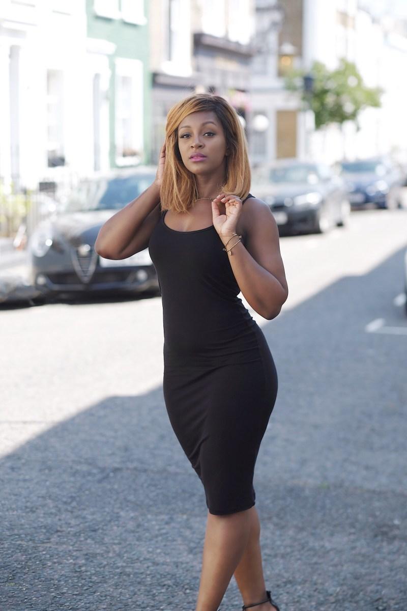 raychel-says-black-dress-asos-chloblo-jewellery-black-girl-blonde-hair