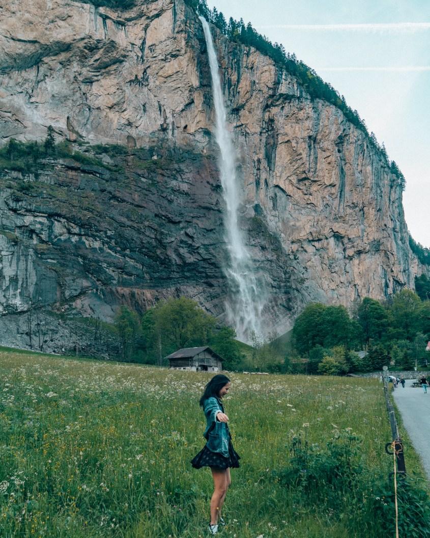 Switzerland Staubbach Falls Lauterbrunnen