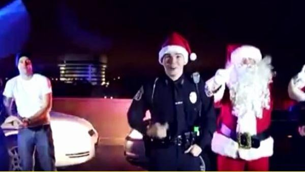 "Hampton, VA Police remix ""Jingle Bells."" (Source: CNN)"