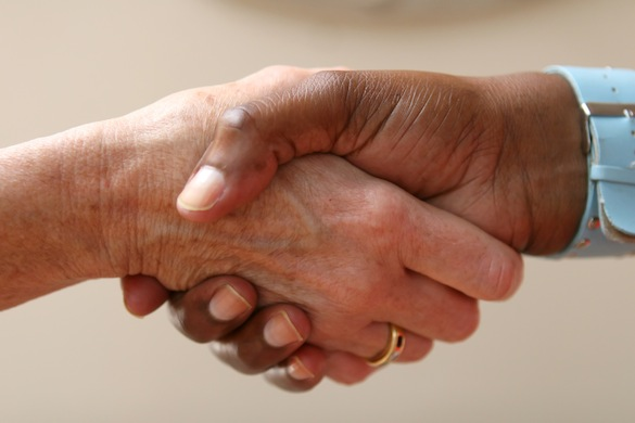 Helping Hand Shakes Another In An Agreement Ray Edwards