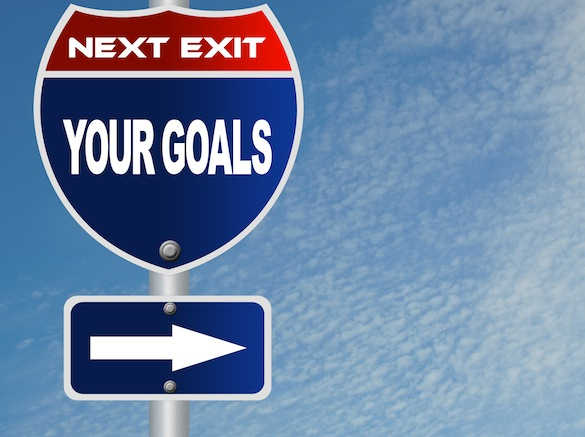 Your goals road sign