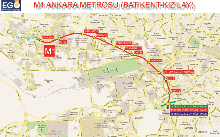 m1 ankara metro stations