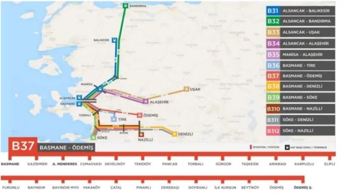 horario y mapa del tren basmane odemis