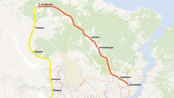 stanbul Havalimanı Metro Haritası
