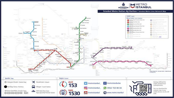 Stambulas metro karte