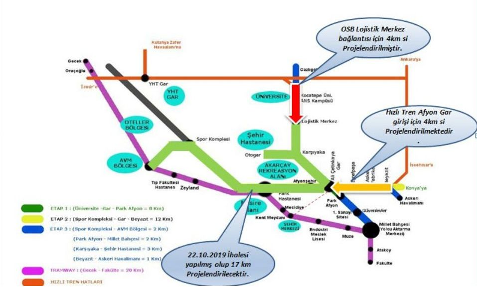 afray banliyo line will pass through kocatepe university campus