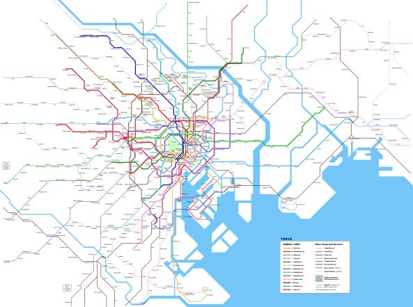 Tokyo metro map 2019