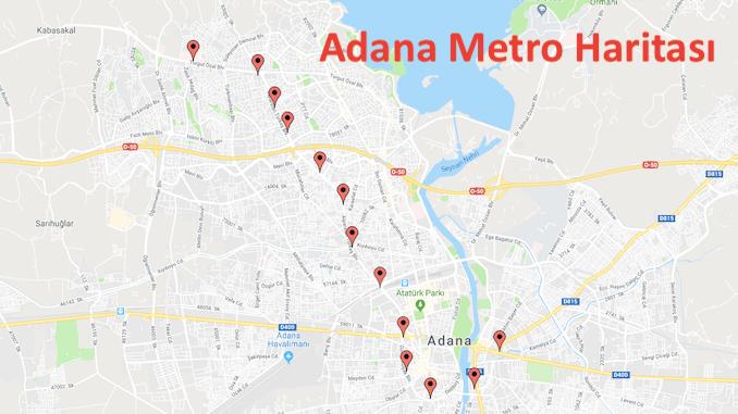 Карта метро Адана
