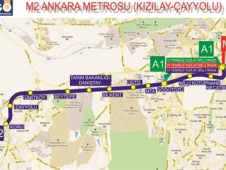 एमएक्सNUMएक्स किझीलय केयोलू मेट्रो लाइन