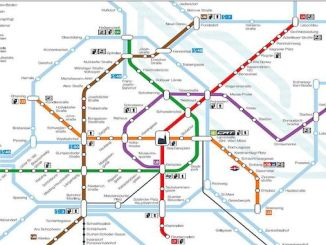 Map of Vienna Metro