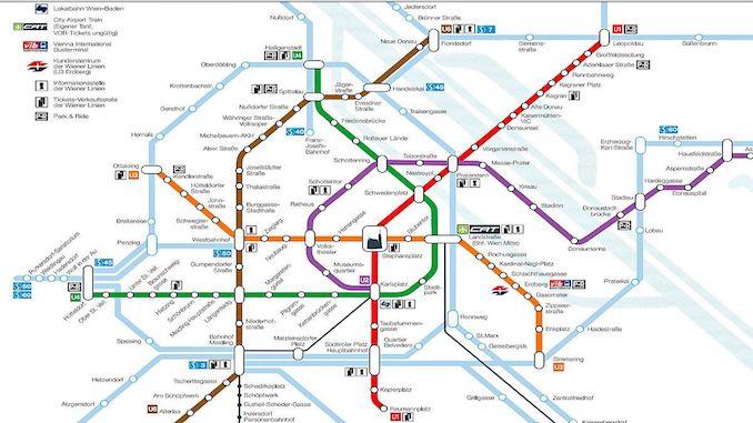 Map of Vienna Metro