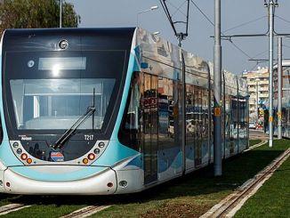 карта трамвайных линий Измирин