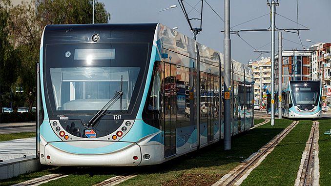 izmirin tramvay xəttləri xəritəsi