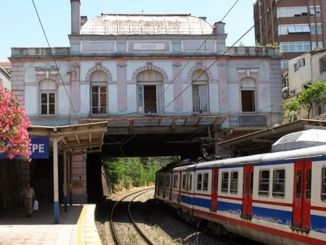 historical goztepe station is being demolished