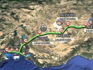 Tren de alta velocidad Kaylya Antalya