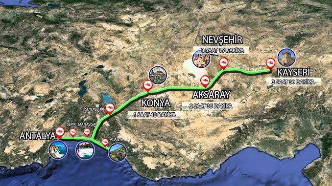 Antalya Kayseri High Speed Train