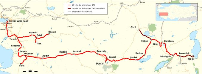 Izmir Aydin Railway Map