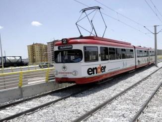 old tram in konya