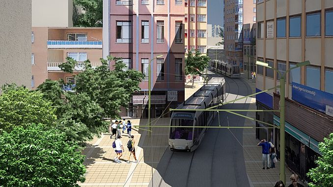 gebze north gebze gar darica light rail system line project signed with the contractor