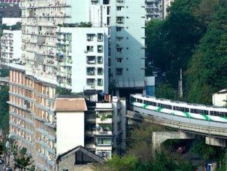 Metro Passes through the apartments
