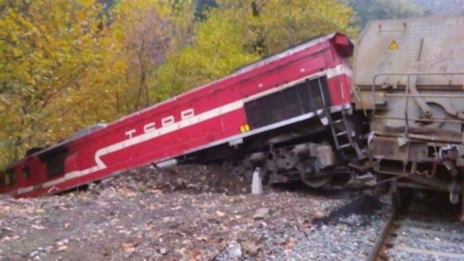 the train derailed, the wagons were falling into the river