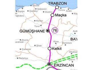 Erzincan Gumushane trabzon demiryolu hatti