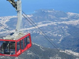olympos ropeway 200 thousand people moved to the peak