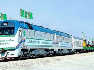 new railway line between turkmenistan and afghanistan
