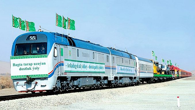 new railway line between turkmenistan and afghanistan