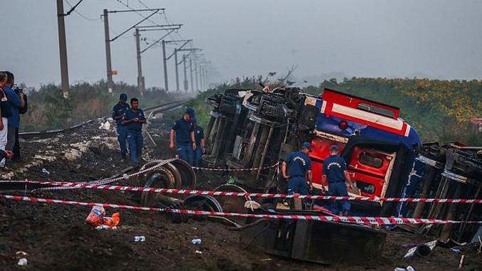عدد القتلى في حادث القطار