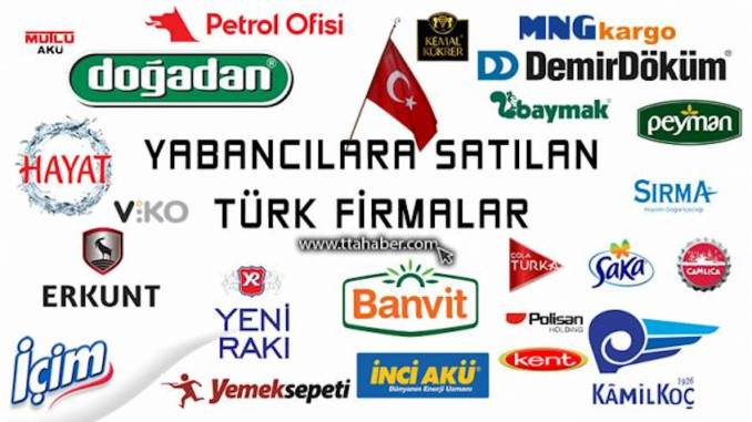 Turkish companies sold to foreigners