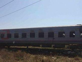 rusyada hareket halindeki yolcu treninde yangin cikti