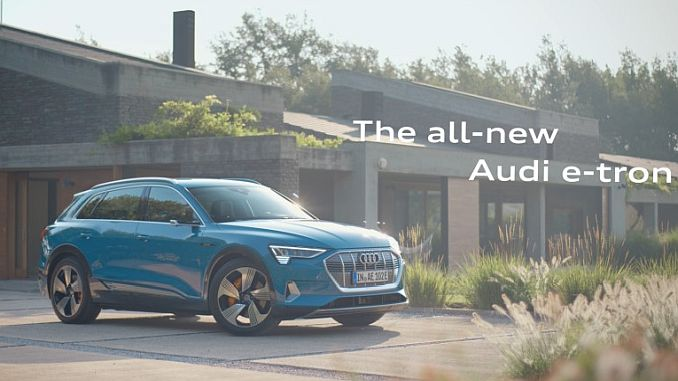 audi first venice for the introduction of the first electric car