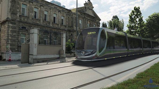 eminonu alibeykoy tram line project brought odul